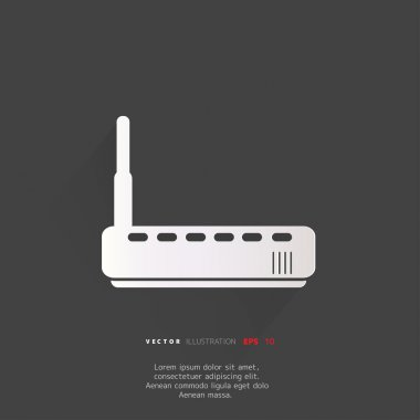 Wi fi router web icon