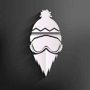 Snowboarder icon stock vector