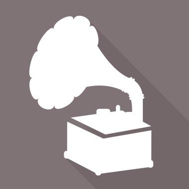 Gramophone,old retro record player icon