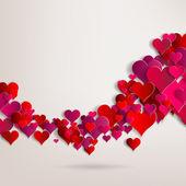 Valentines den. abstraktní papírové srdce. Láska