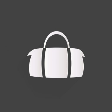 Hipster modern bag icon