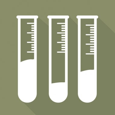 Test tube icon, microbiology equipment