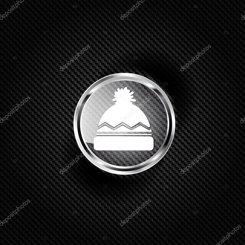 d3b03e21dee Winter snowboard cap icon — Stock Vector © floral set  39953243