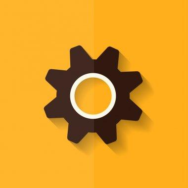 Settings icon. Gear symbol. Tools. Flat design.