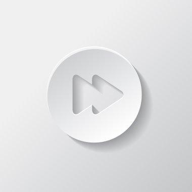Forward or skip icon. Media player.