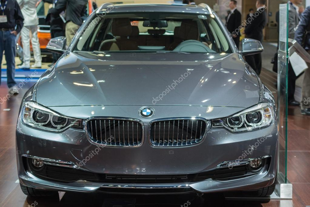 Bmw 3 Series 320d Car On Display At The La Auto Show Stock