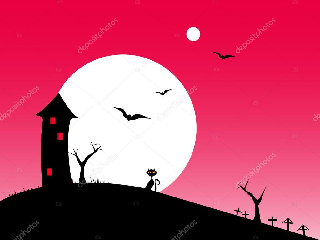 Halloween night red