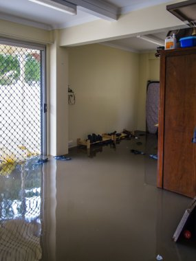 Room Filled with Flood Water