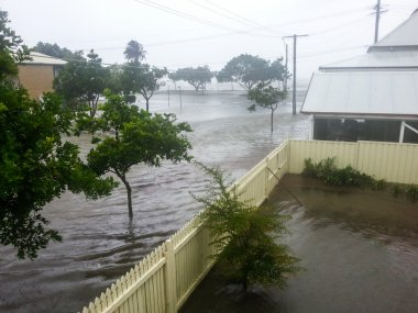 Flooded Brisbane Street