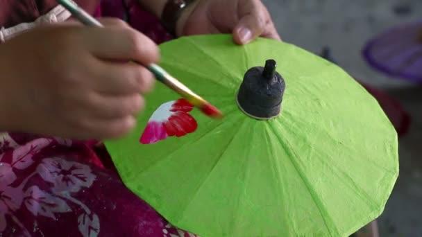 olajfestmény esernyő