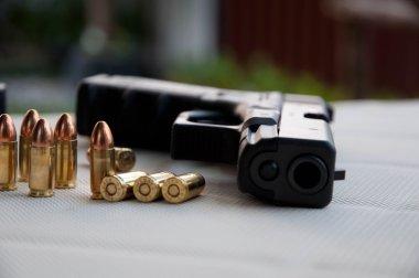 Gun and bullet stock vector