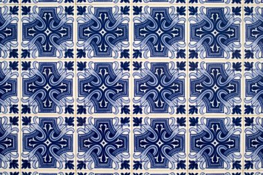 Detail of azulejos, traditional portuguese tiles
