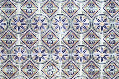 Portuguese azulejos, old tiled background