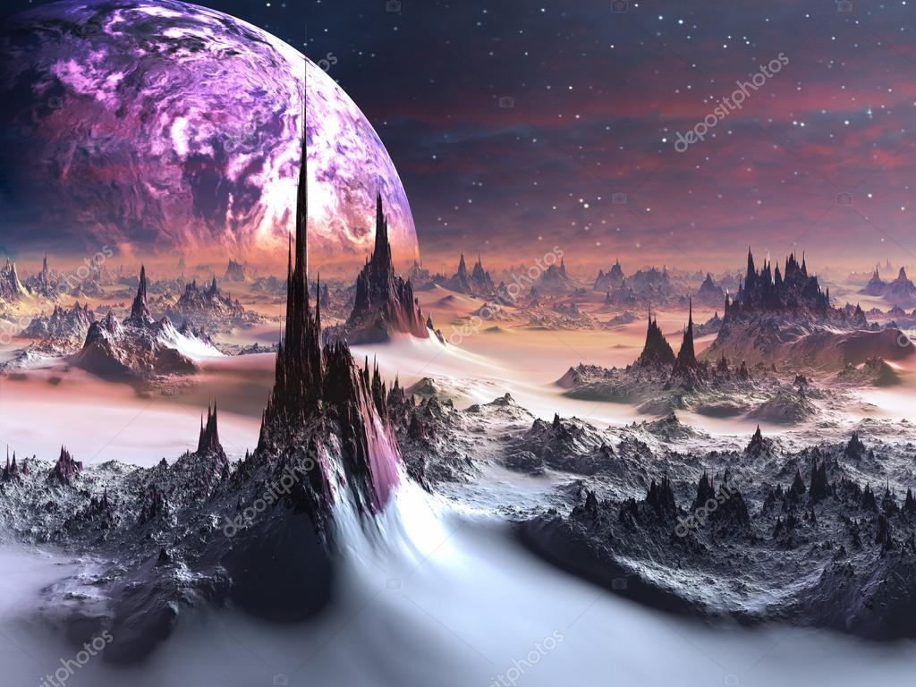 Alien World in Winter