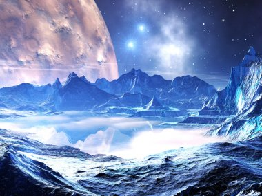 Distant Planet in the Grip of Winter