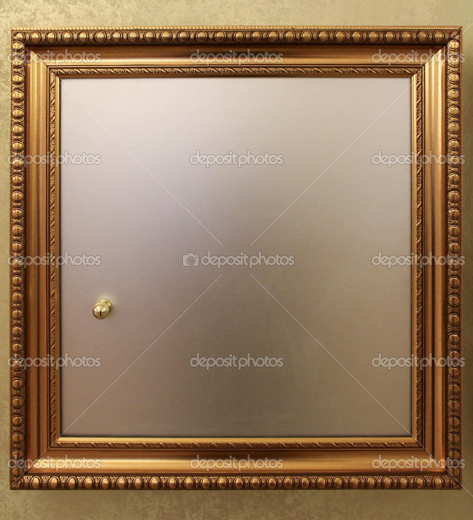 Door From In Wall Safe With A Golden Frame U2014 Photo By Pt Home