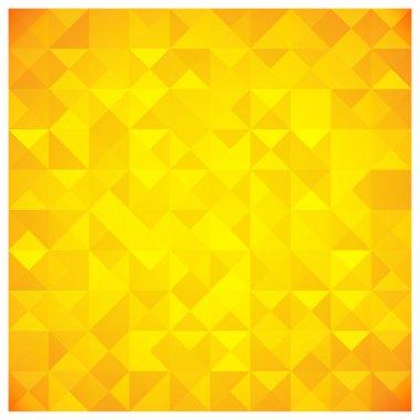 """Картина, постер, плакат, фотообои """"треугольник и квадратный жёлтый шаблон """", артикул 21567295"""
