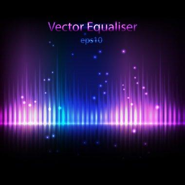 Equalizer background stock vector