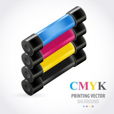 Cmyk print colored roll