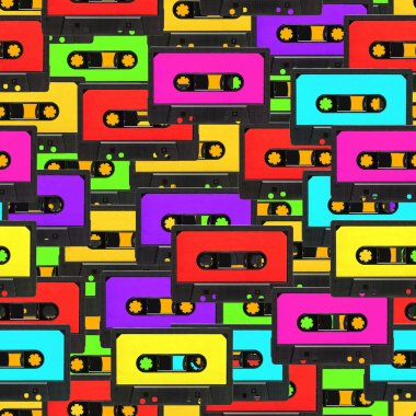 Seamless audio tape background