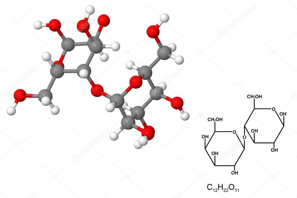 Formula De La Lactosa Molécula De Lactosa Foto De Stock