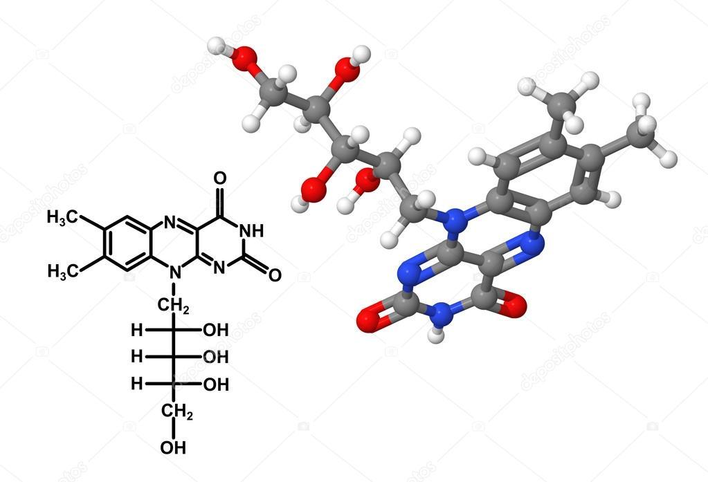 Estructura Molecular De La Vitamina B2