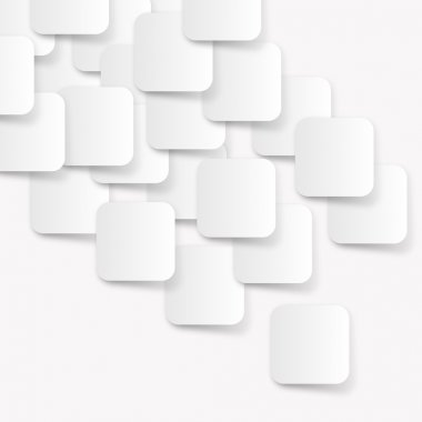 White rectangle abstract