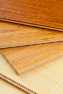 Bamboo laminate flooring close up