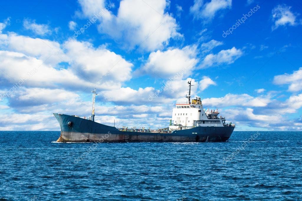 Ship at mediterranean sea