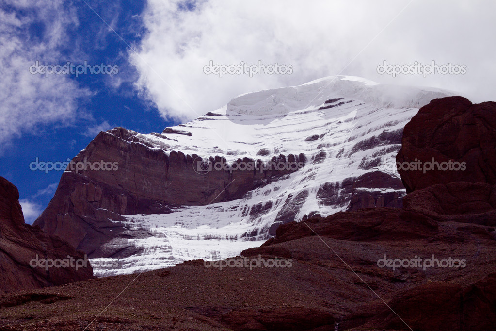 Mount Kailash western slope