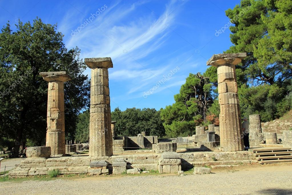 Heraion (Héra-templom): olympia — Stock Fotó © catstail ...