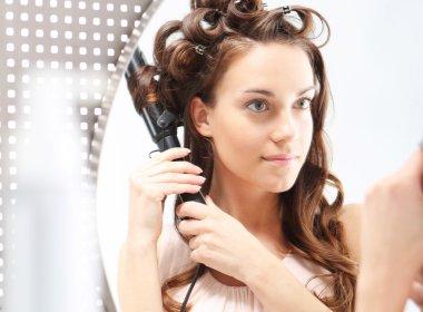 Beautiful curls, cosmetics styling