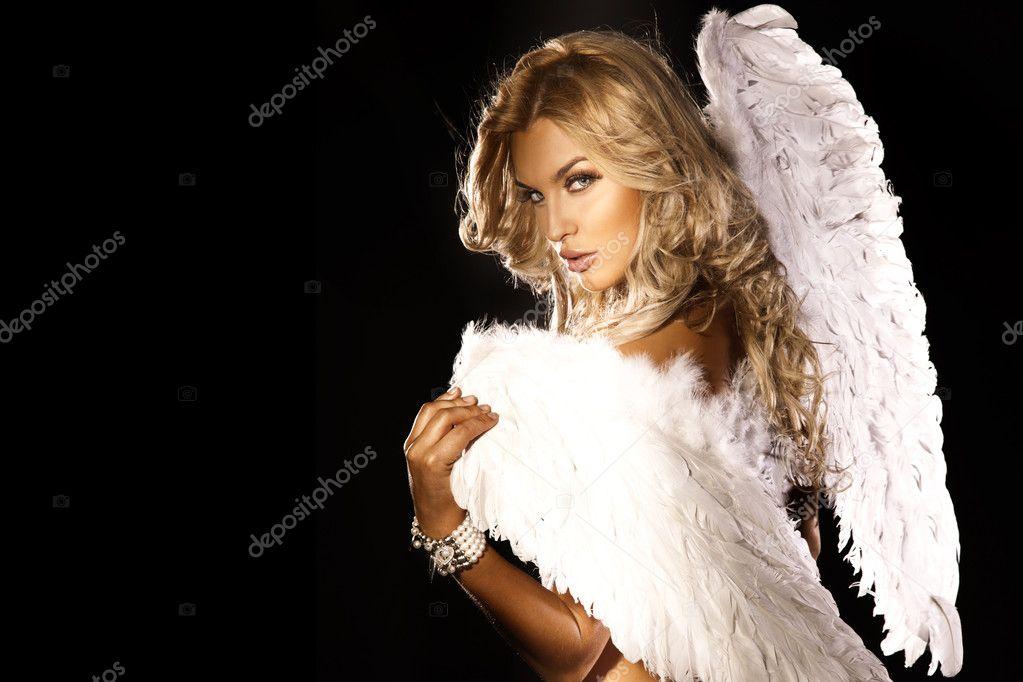 Portrait of gorgeous blonde angel.