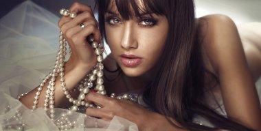 Beauty portrait of sensual beauty