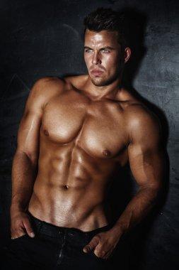 Handsome man posing