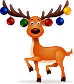 Photo Deer with Christmas ball