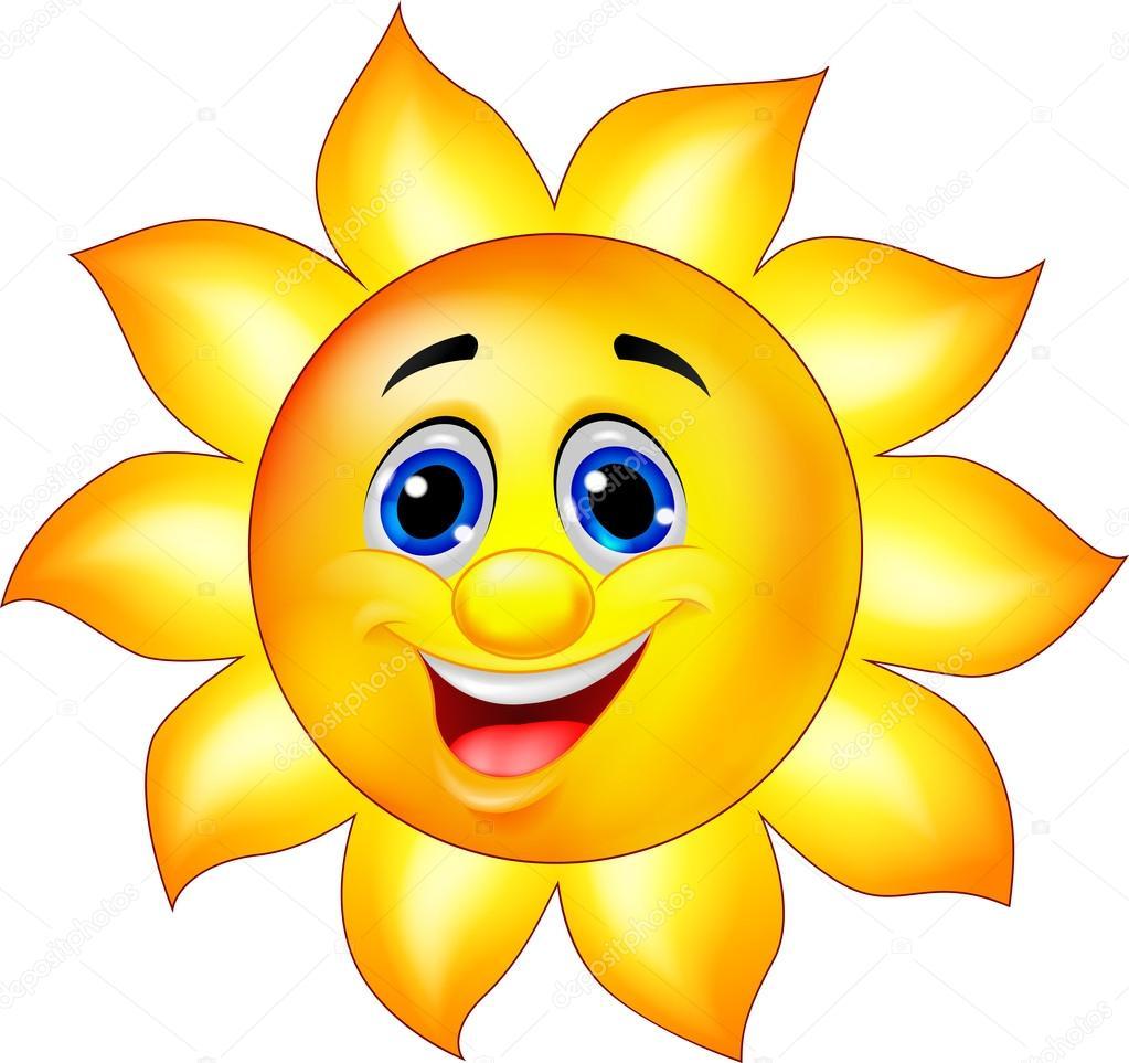 personaje de dibujos animados de sol — Vector de stock