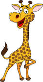 Photo Cute giraffe cartoon