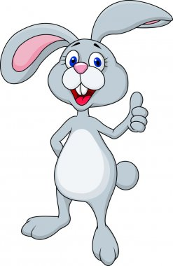 Easter bunny thumb-up