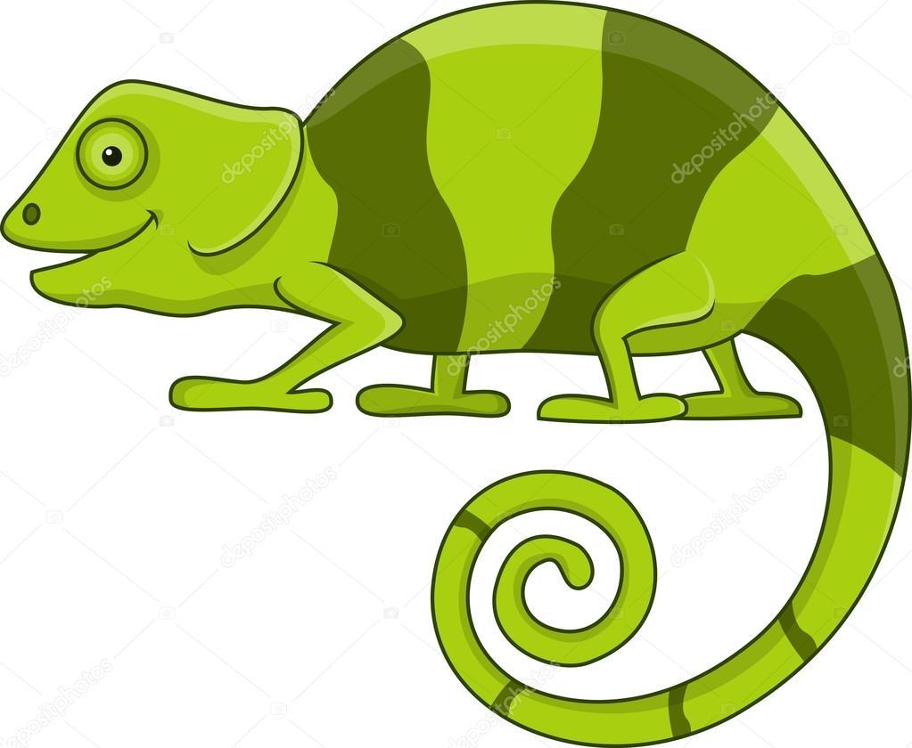 camaleão de personagem de desenho animado vetores de stock