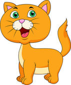 Photo Cute cat cartoon standing
