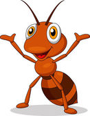 Photo Cute ant cartoon waving