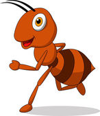 Cute ant cartoon running