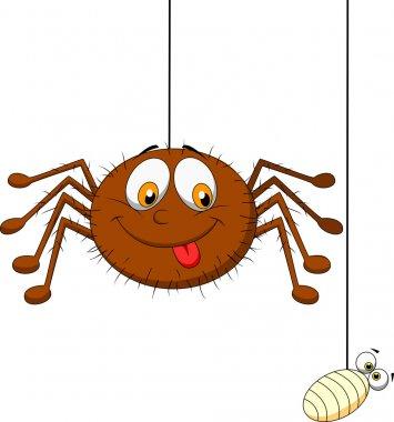 Spider and prey cartoon