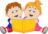 Fotografie Children reading a book