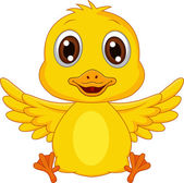 Fotografie Süßes Baby Duck-cartoon