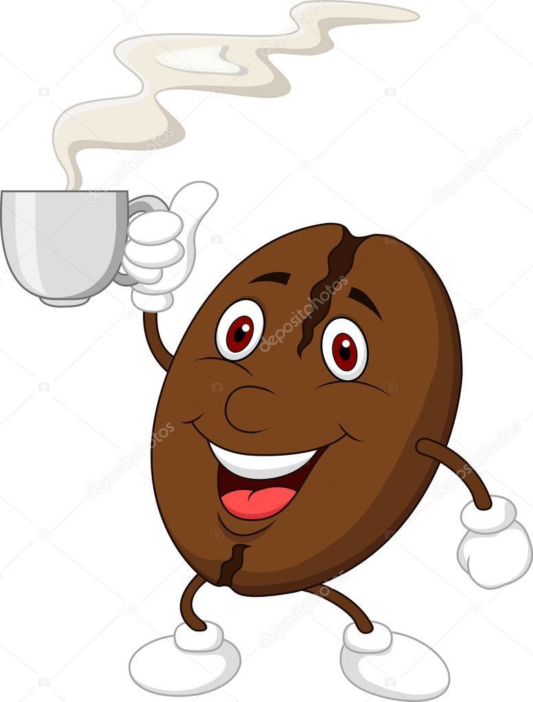 s e kaffee cartoon figur mit kaffeetasse stockvektor tigatelu 23937435. Black Bedroom Furniture Sets. Home Design Ideas