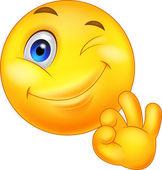Fotografie Smiley emoticon with ok sign