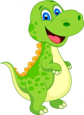 Cute Little Dinosaur Vector illustration