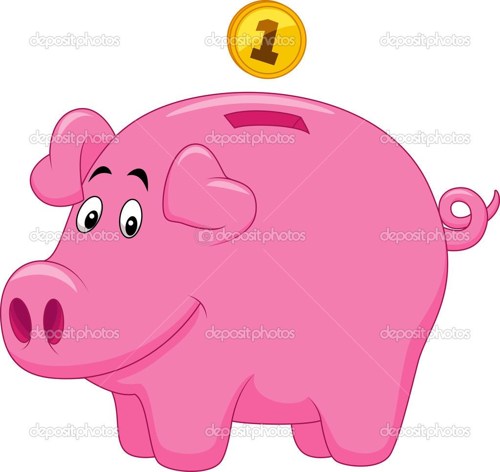 piggy bank cartoon stock vector  u00a9 tigatelu 25416009 clip art of pigs clipart of pig butts